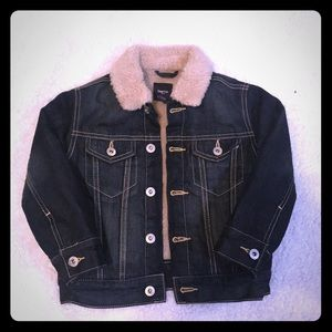 Gap Kids Sherpa Denim Jacket XS (4-5 yrs)